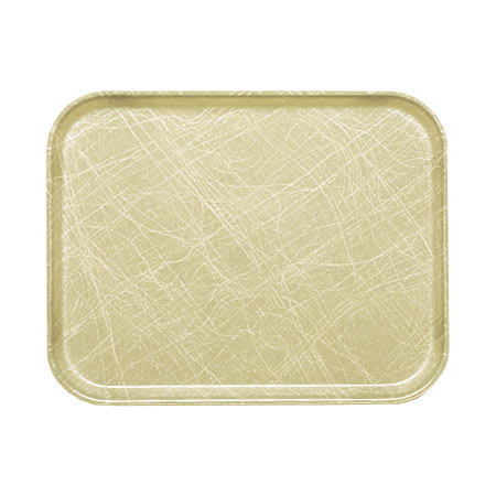 "Cambro 1015214 Fiberglass Camtray® Cafeteria Tray Insert - 15""L x 10.1""W, Abstract Tan"