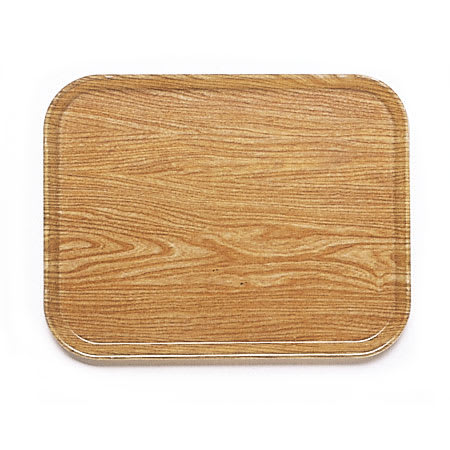 "Cambro 1015307 Fiberglass Camtray® Cafeteria Tray Insert - 15""L x 10.1""W, Light Elm"