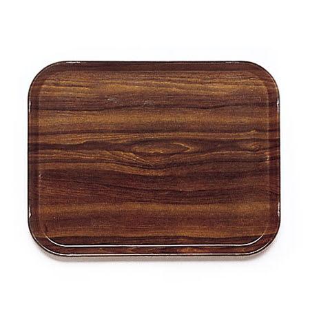 "Cambro 1015308 Fiberglass Camtray® Cafeteria Tray Insert - 15""L x 10.1""W, Burma Teak"
