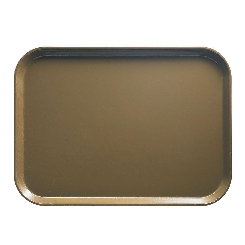 "Cambro 1015513 Rectangular Camtray Insert - 10 1/8x15"" Bay Leaf Brown"