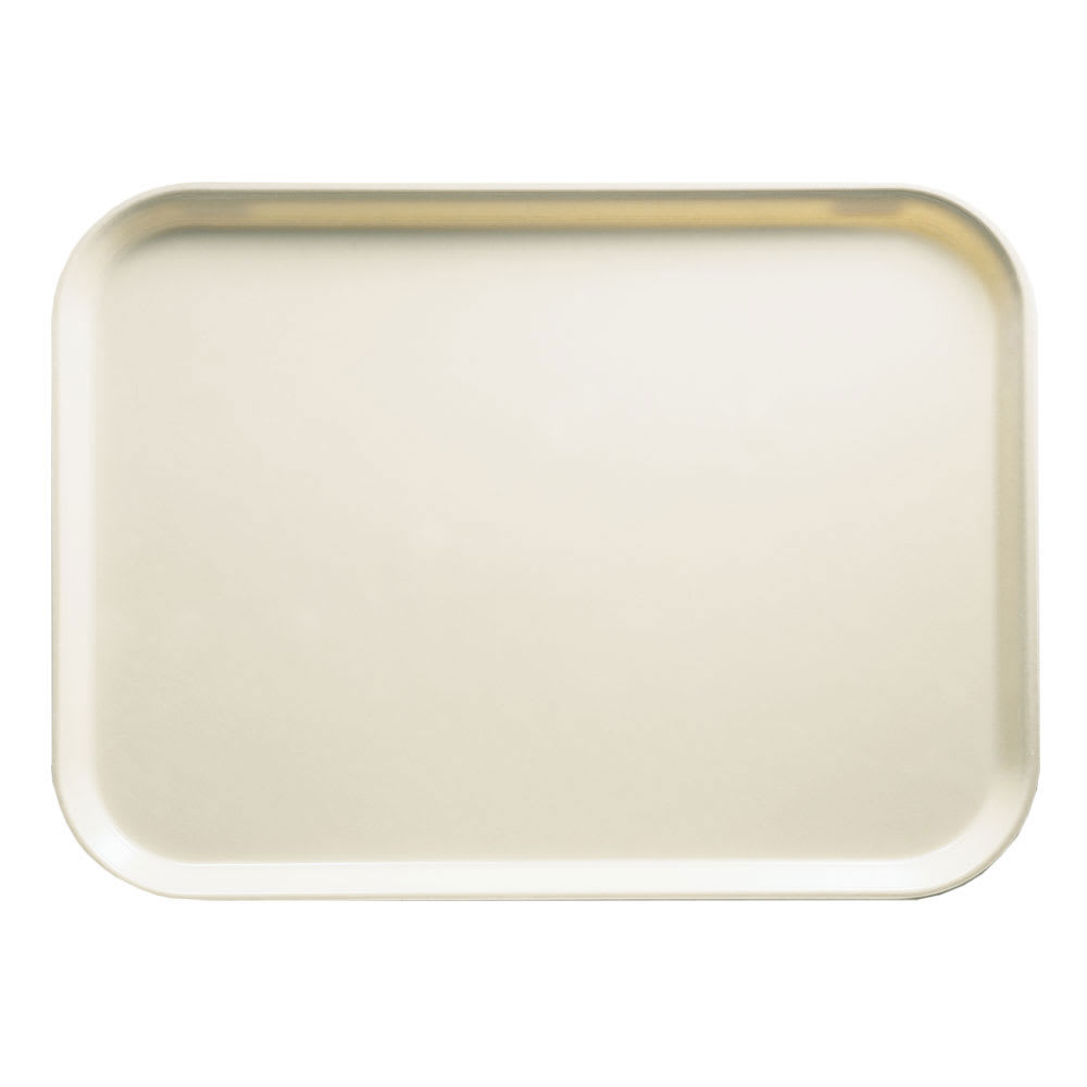 "Cambro 1015538 Fiberglass Camtray® Cafeteria Tray Insert - 15""L x 10.1""W, Cottage White"