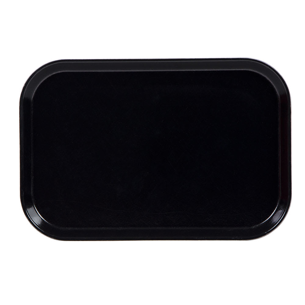 "Cambro 1015MT110 Rectangular Market Display Tray - 10 1/8x15x3/4"" Black"