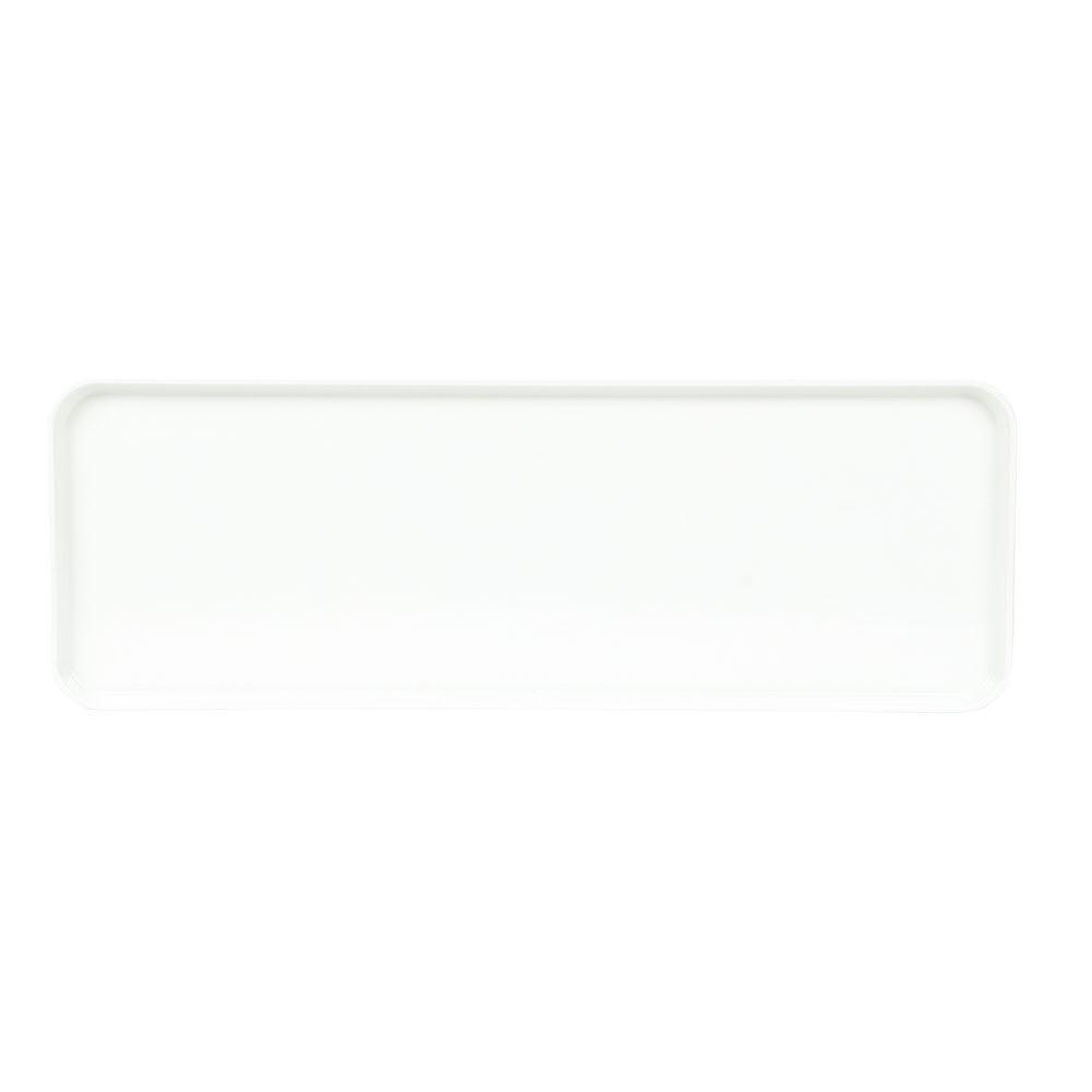 "Cambro 1030MT148 Rectangular Market Display Tray - 10-7/16x30x3/4"" White"