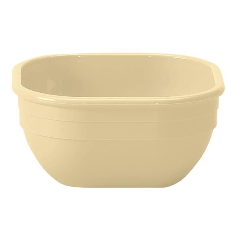"Cambro 10CW133 4"" Square Cereal Bowl w/ 9.4 oz Capacity, Melamine, Beige"