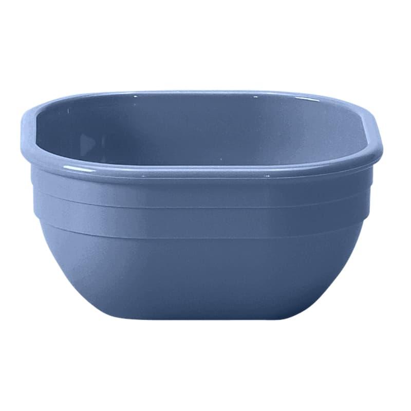 "Cambro 10CW401 4"" Square Camwear Bowl - 9.4 oz Capacity, Slate Blue"
