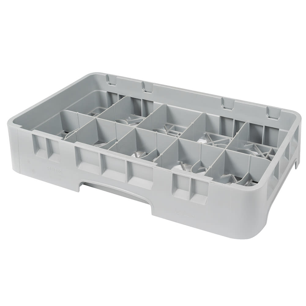 Cambro 10HC258151 Camrack Cup Rack - 10 Compartment, Half-Size, Soft Gray