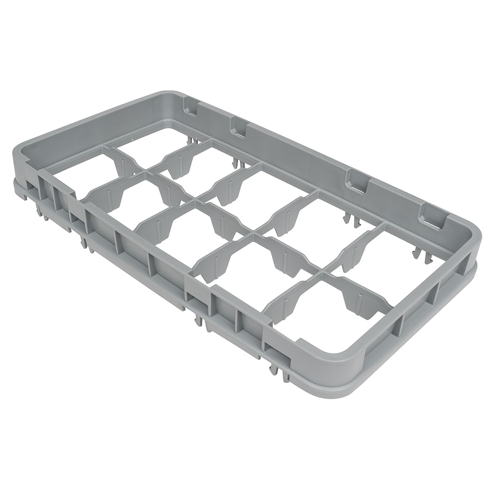Cambro 10HE2151 Half Drop Camrack Extender - 10 Compartment, Half-Size, Soft Gray