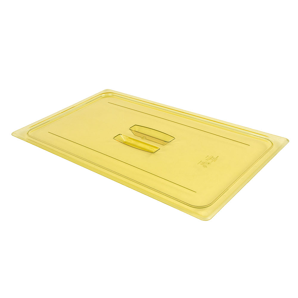 Cambro 10HPCH150 H-Pan Hot Food Cover - Full-Size, Flat, Handle, Amber
