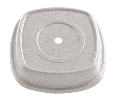 "Cambro 1111SMVS101 11-1/8"" Square Versa Plate Cover - Fits 11"" Distinction Metro, Antique Parchment"