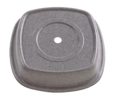 """Cambro 1111SMVS191 11-1/8"""" Square Versa Plate Cover - Fits 11"""" Distinction Metro, Granite Gray"""