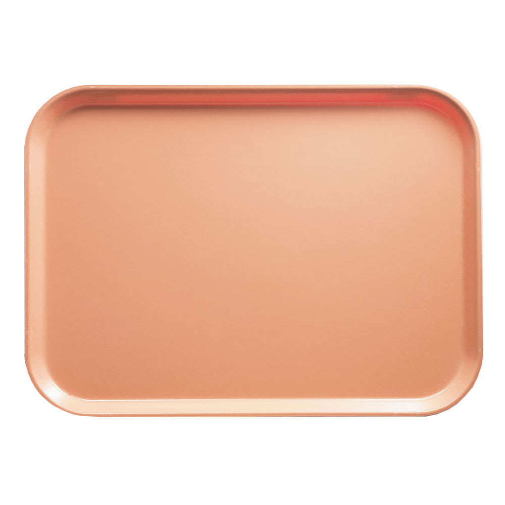 "Cambro 1216117 Rectangular Camtray - 12x17"" Dark Peach"