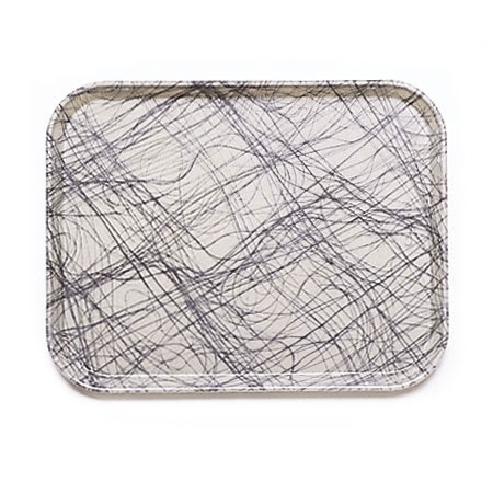"Cambro 1216277 Rectangular Camtray - 12x17"" Swirl Gray"
