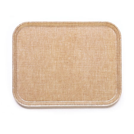 "Cambro 1216329 Rectangular Camtray - 12x17"" Linen Toffee"