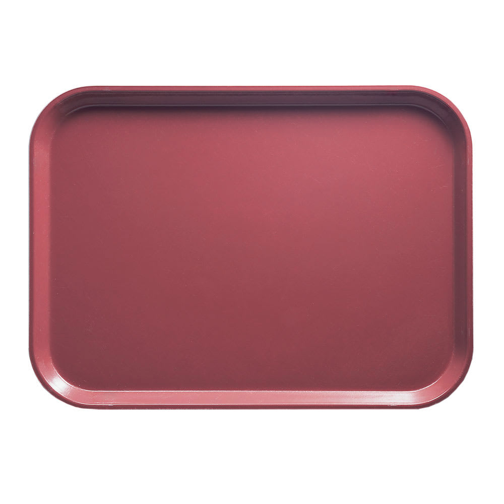 "Cambro 1216410 Rectangular Camtray - 12x17"" Raspberry Cream"