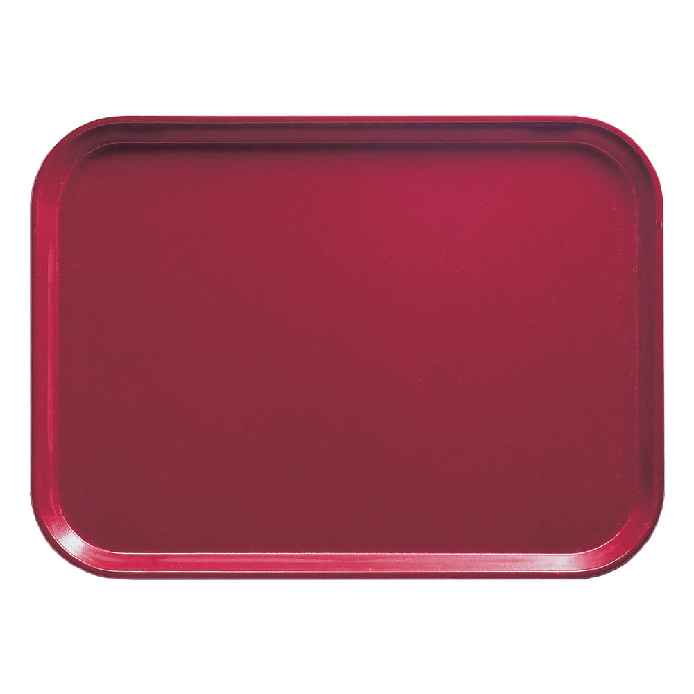 "Cambro 1216505 Rectangular Camtray - 12x17"" Cherry Red"