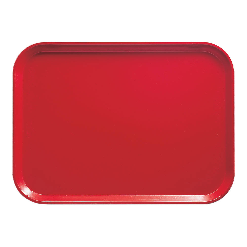 "Cambro 1216510 Rectangular Camtray - 12x17"" Signal Red"