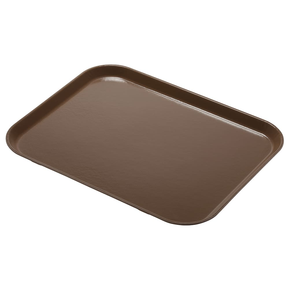 "Cambro 1216CL161 Rectangular Camlite Tray - 12x17"" Tan"