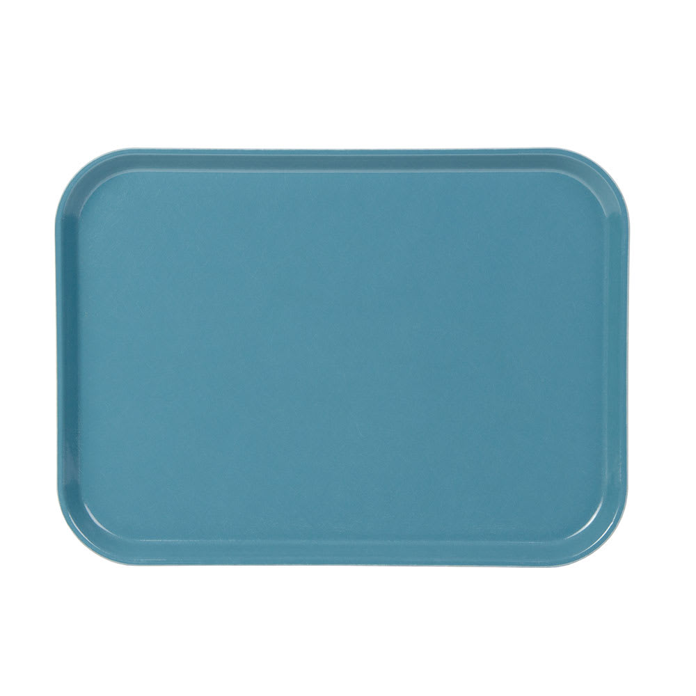 """Cambro 1216CL674 Rectangular Camlite Tray - 12x17"""" Steel Blue"""