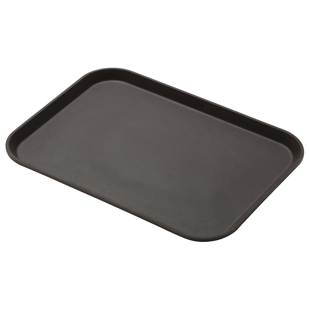 "Cambro 1216CT138 Rectangular Camtread Serving Tray - 12x16 5/8"" Tavern Tan"