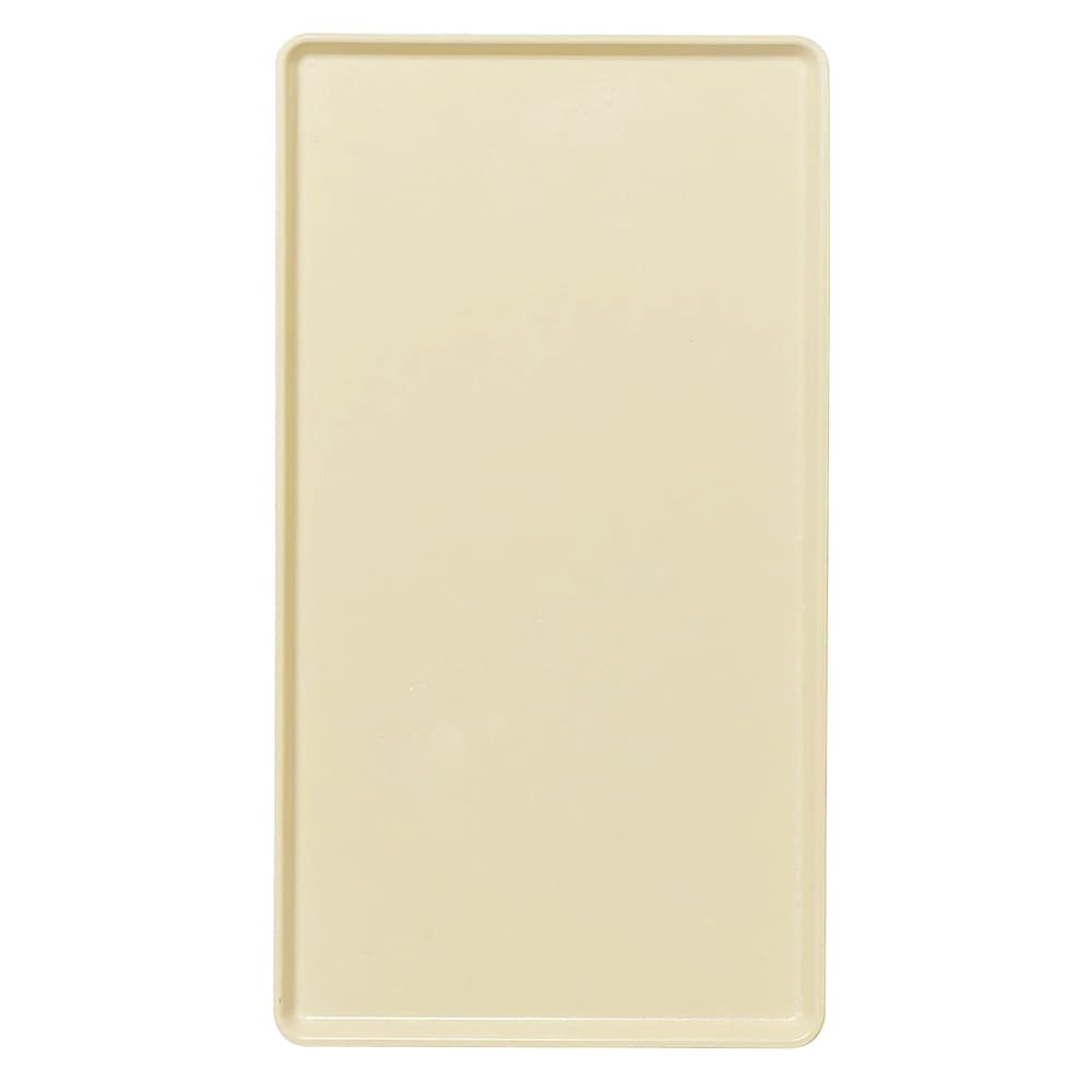 """Cambro 1216D537 Rectangular Dietary Tray - For Patient Feeding, 12x16"""" Cameo Yellow"""