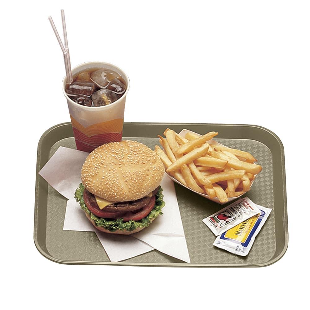 "Cambro 1216FF104 Rectangular Fast Food Tray - 12x16-1/8"" Desert Tan"