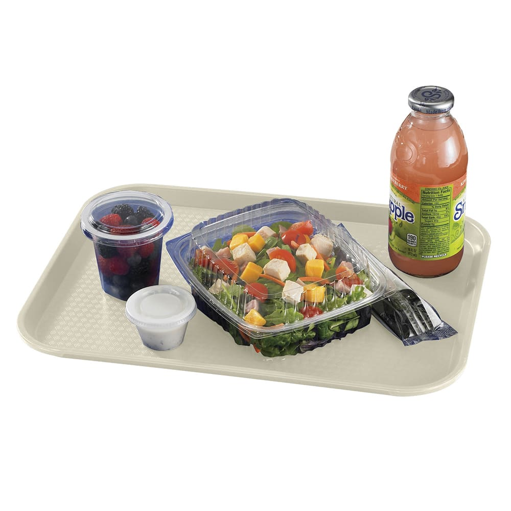 "Cambro 1216FF106 Rectangular Fast Food Tray - 12x16-1/8"" Light Peach"
