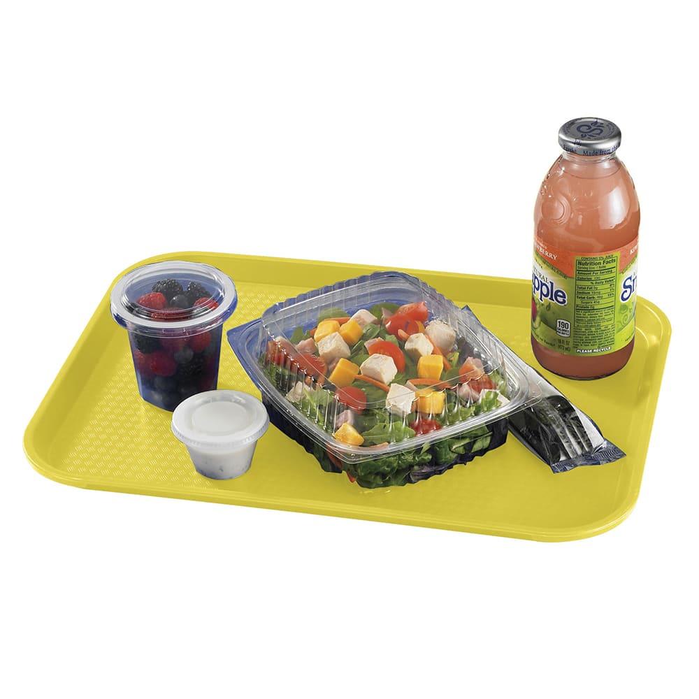 "Cambro 1216FF108 Rectangular Fast Food Tray - 12x16 1/8"" Primrose Yellow"