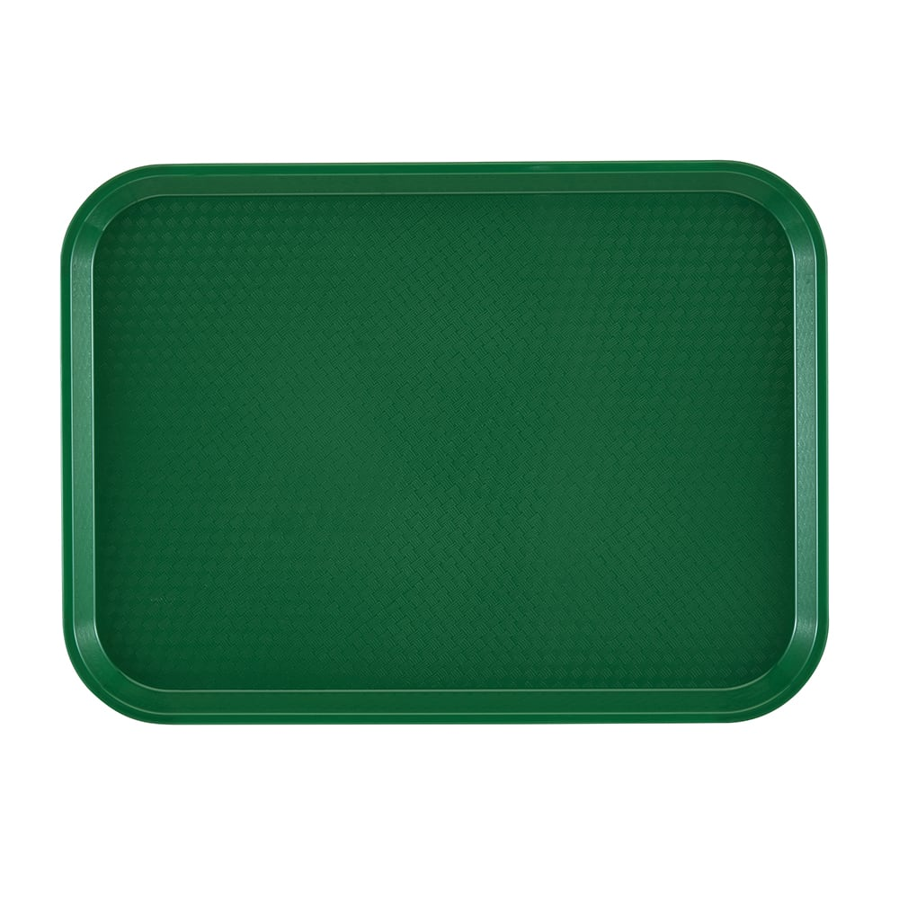 "Cambro 1216FF119 Rectangular Fast Food Tray - 12x16 1/8"" Sherwood Green"