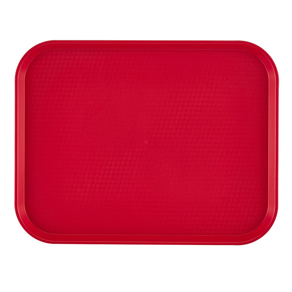 "Cambro 1216FF163 Rectangular Fast Food Tray - 12x16-1/8"" Red"