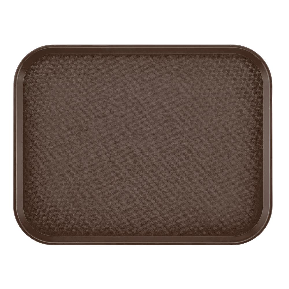 "Cambro 1216FF167 Rectangular Fast Food Tray - 12x16 1/8"" Brown"