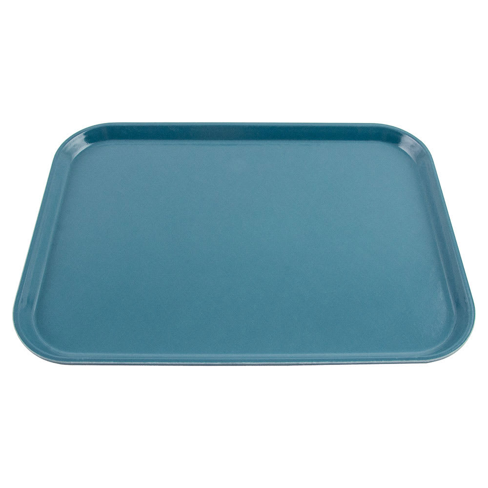 "Cambro 1216FF168 Rectangular Fast Food Tray - 12x16-1/8"" Blue"