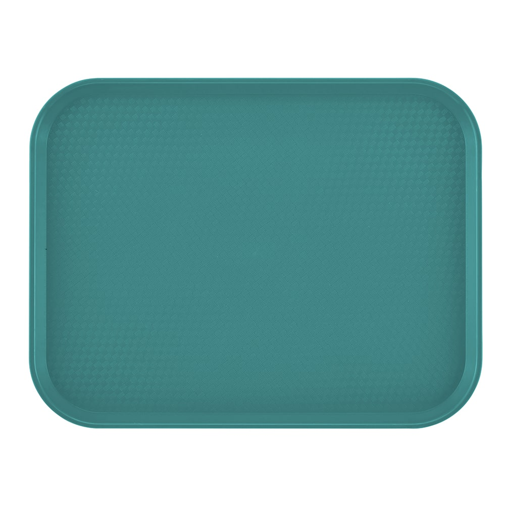 "Cambro 1216FF414 Rectangular Fast Food Tray - 12x16-1/8"" Teal"