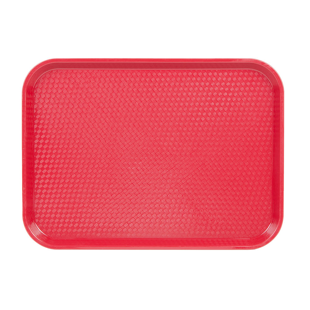 """Cambro 1216FF416 Rectangular Fast Food Tray - 12x16 1/8"""" Cranberry"""