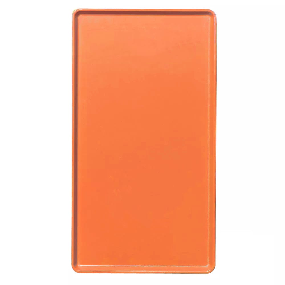 "Cambro 1220D220 Rectangular Dietary Tray - For Patient Feeding, 12x20"" Citrus Orange"