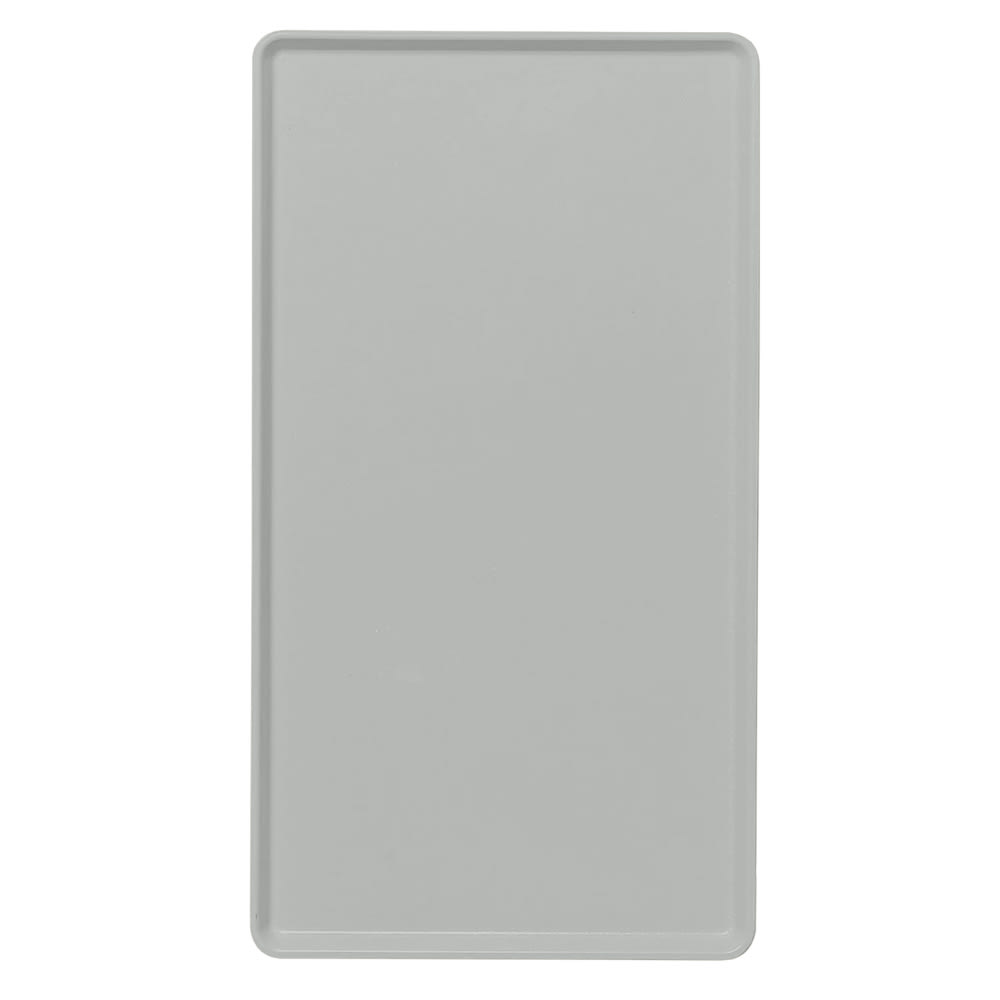 "Cambro 1222D107 Rectangular Dietary Tray - For Patient Feeding, 12x22"" Pearl Gray"