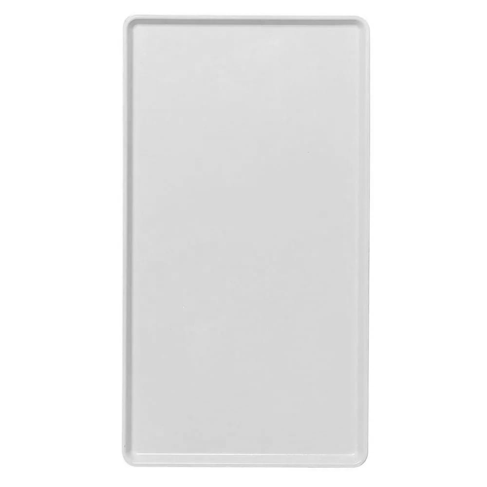 """Cambro 1222D148 Rectangular Dietary Tray - For Patient Feeding, 12x22"""" White"""