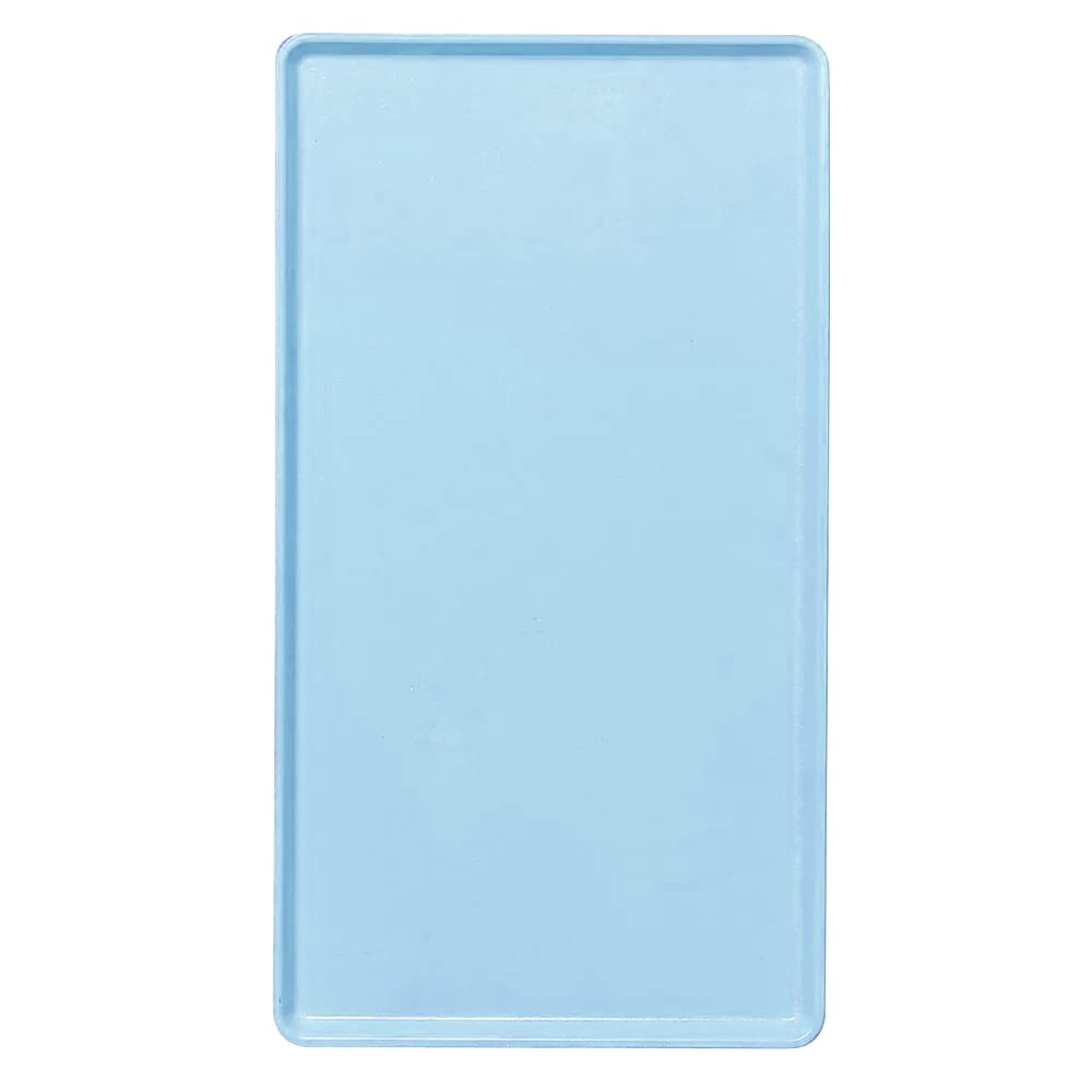 "Cambro 1222D177 Rectangular Dietary Tray - For Patient Feeding, 12x22"" Sky Blue"