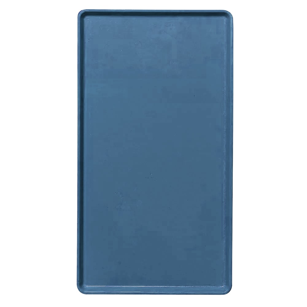 """Cambro 1222D401 Rectangular Dietary Tray - For Patient Feeding, 12x22"""" Slate Blue"""
