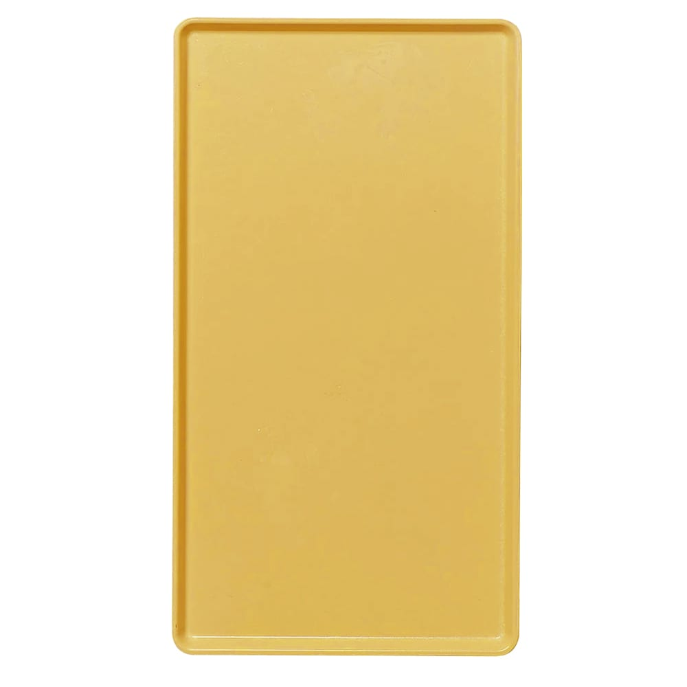 """Cambro 1222D504 Rectangular Dietary Tray - For Patient Feeding, 12x22"""" Mustard"""