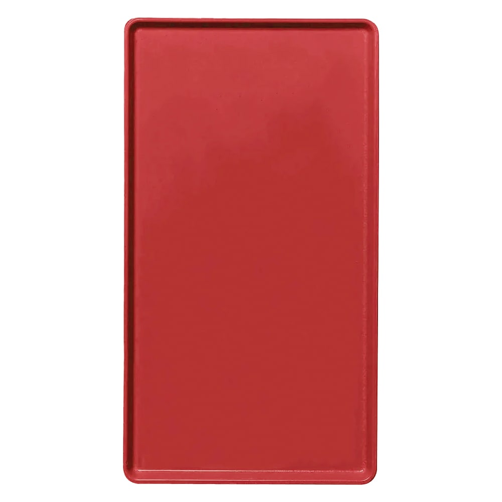 """Cambro 1222D510 Rectangular Dietary Tray - For Patient Feeding, 12x22"""" Signal Red"""