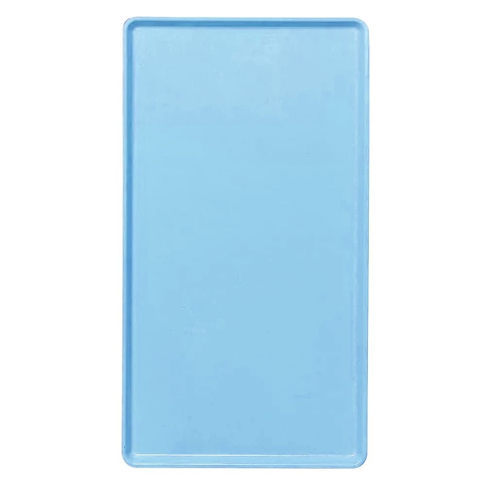 """Cambro 1222D518 Rectangular Dietary Tray - For Patient Feeding, 12x22"""" Robin Egg Blue"""