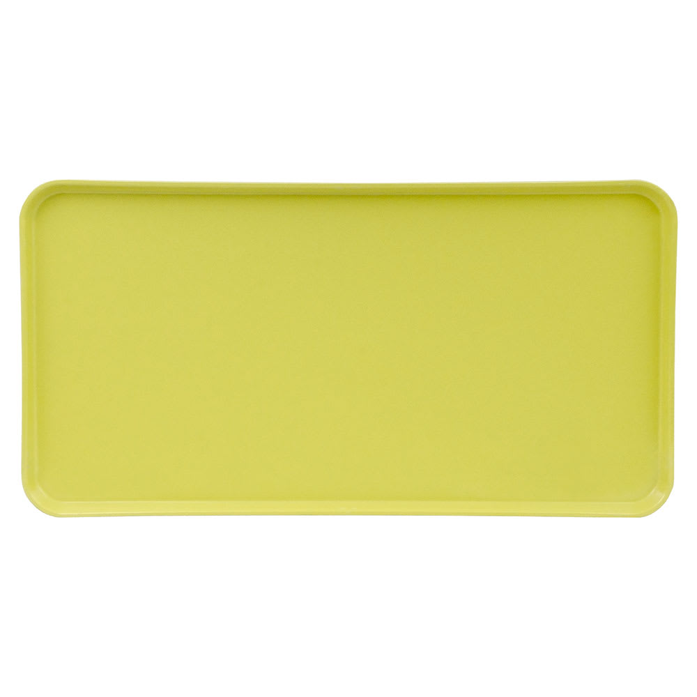 "Cambro 1224MT145 Rectangular Market Display Tray - 12-7/16x24x3/4"" Yellow"