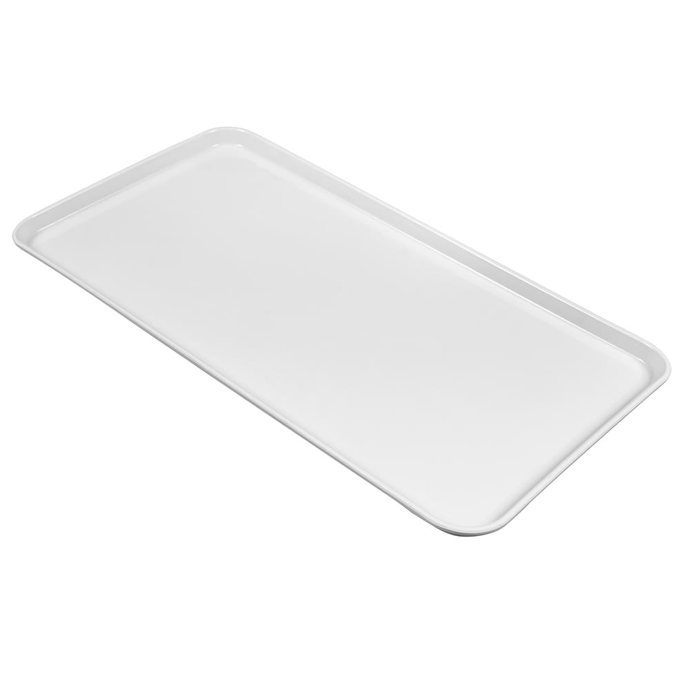 "Cambro 1224MT148 Rectangular Market Display Tray - 12 7/16x24x3/4"" White"