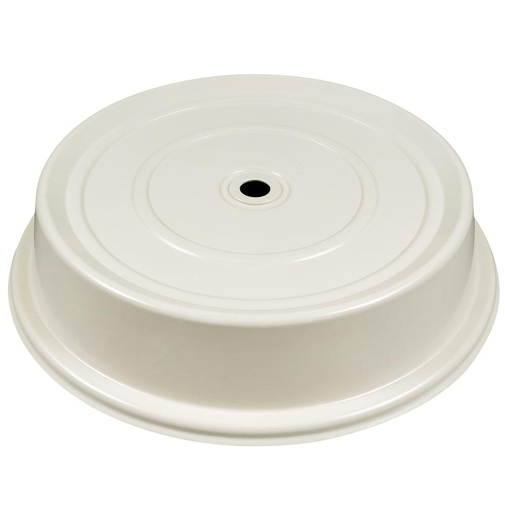 "Cambro 124VS101 12-1/4"" Round Versa Plate Cover - Antique Parchment"