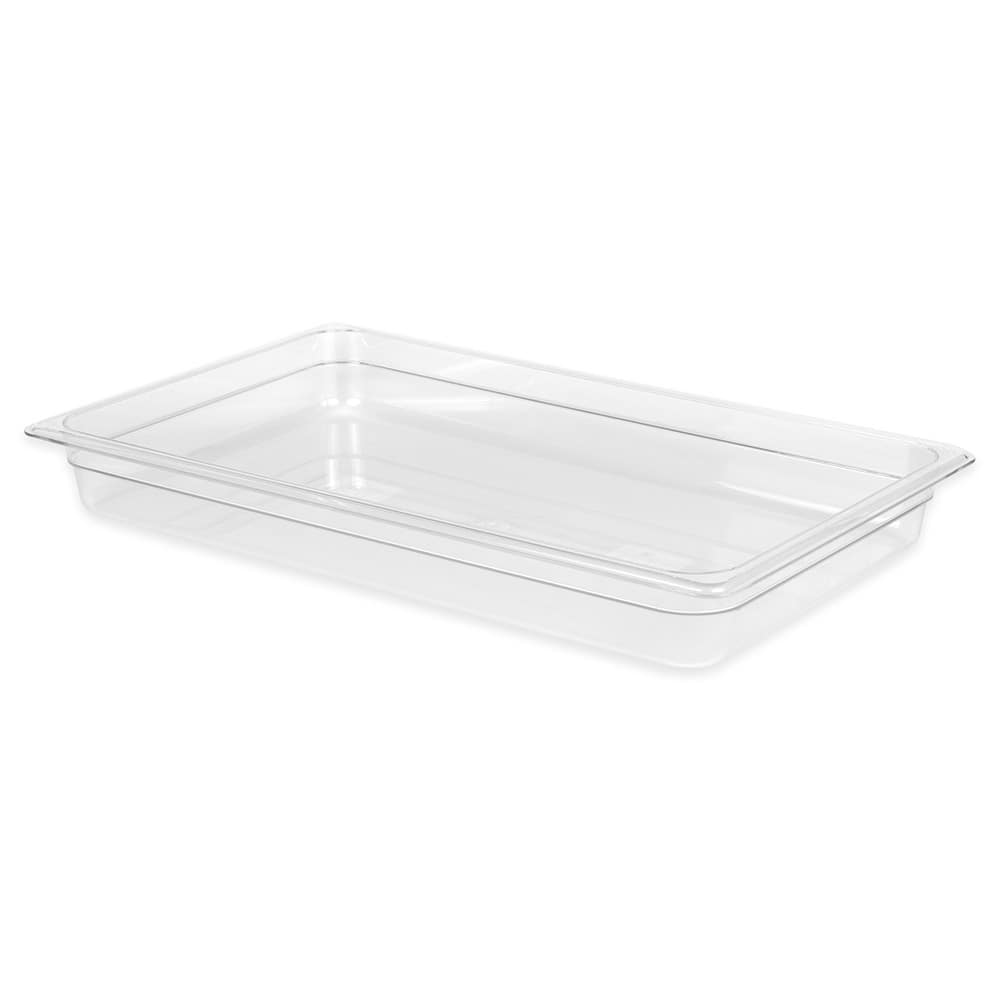 "Cambro 12CW135 Camwear Food Pan - Full Size, 2-1/2"" Clear"