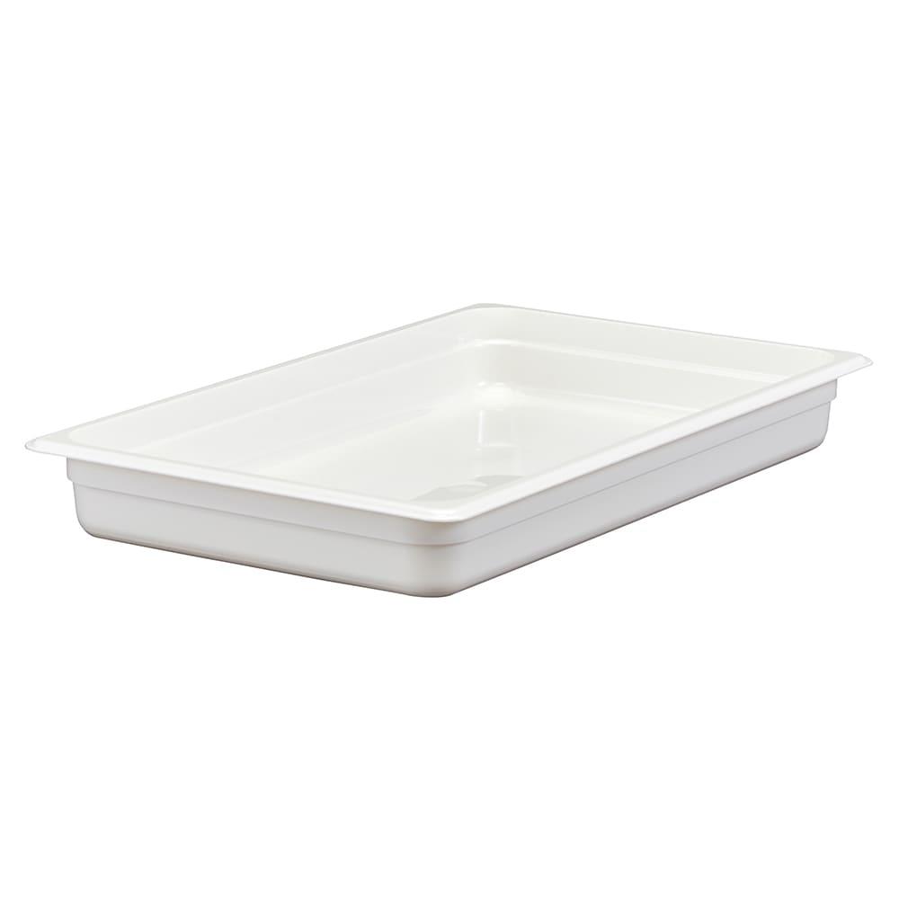 """Cambro 12CW148 Camwear Food Pan - Full Size, 2-1/2"""" White"""