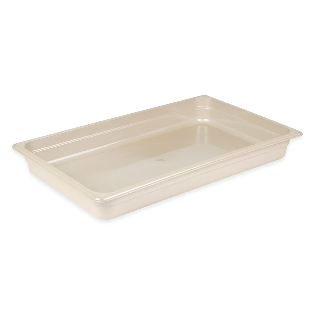 "Cambro 12HP772 X-Pan Hot Food Pan - Full Size, 2-1/2"" Non-Stick, Sandstone"