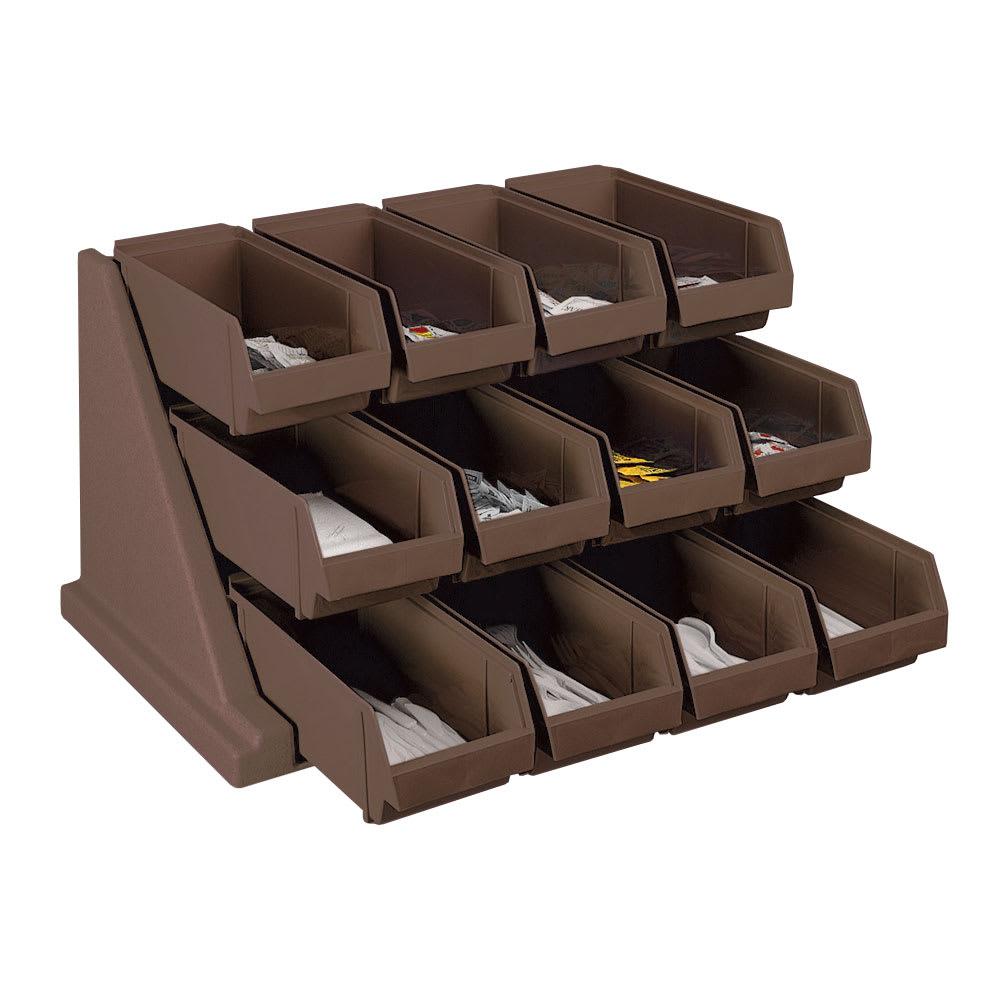 "Cambro 12RS12131 Organizer Rack - 12 Bins, 25-1/8x21-3/8x14-1/4"" Dark Brown"