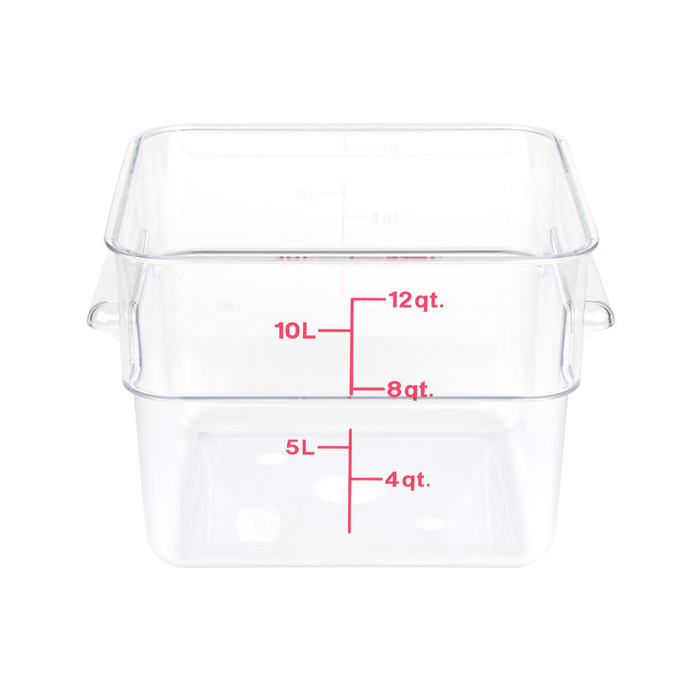 Cambro 12SFSCW-135 12-qt CamSquare Food Container - Polycarbonate, Clear