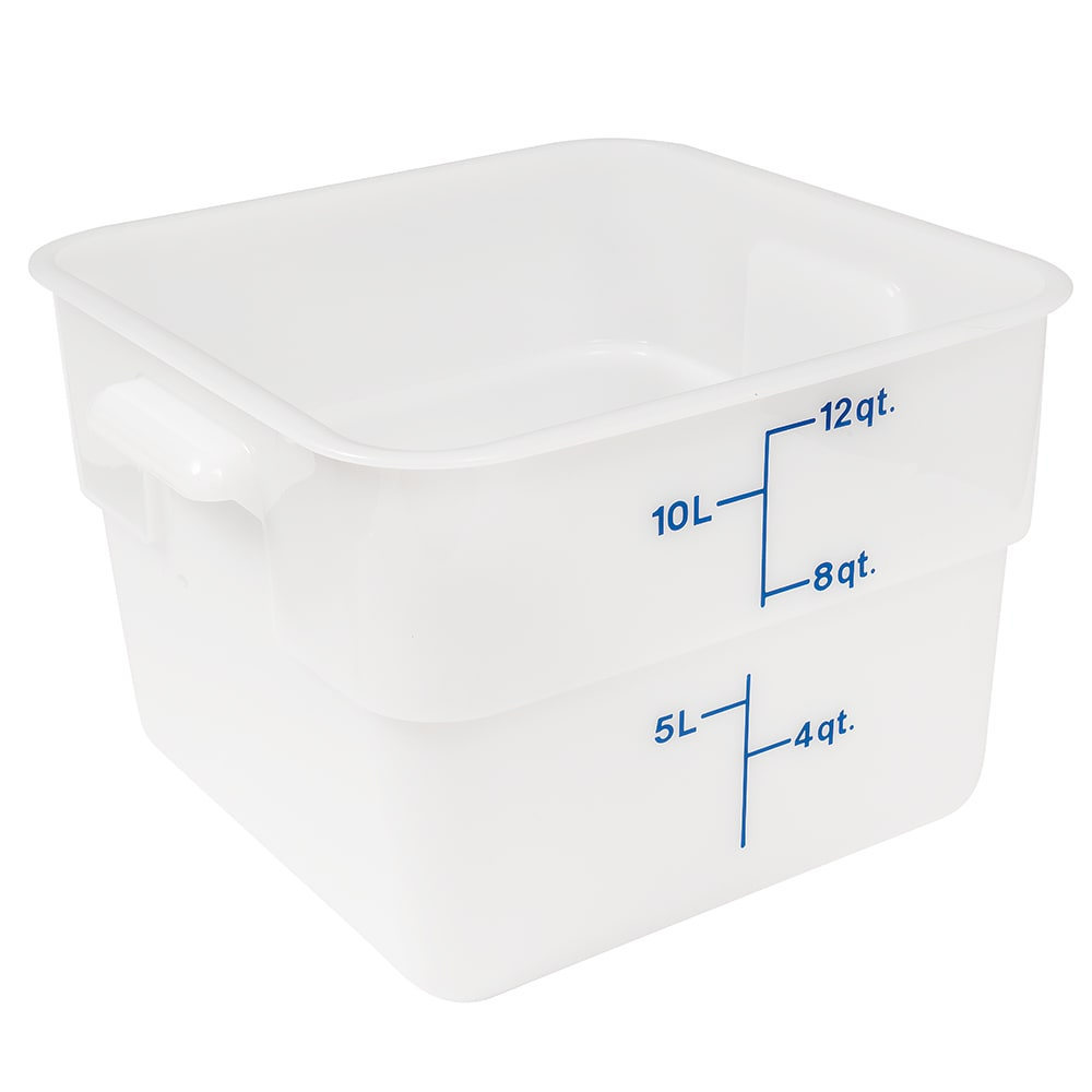 Cambro 12SFSP148 12 qt CamSquare Food Container - Polyethylene, Natural White